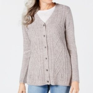Karen Scott XLarge Button Front V-Neck Cardigan